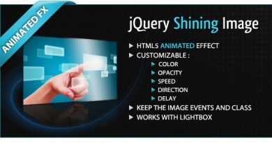 jQuery Shining Image Free Download