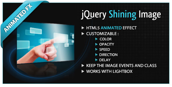 jQuery Shining Image - Free Download