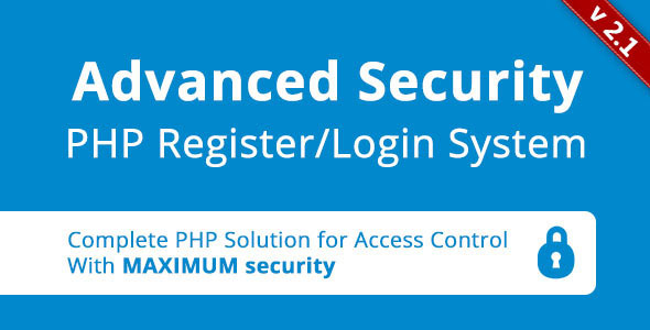 Advanced Security PHP Register Login System