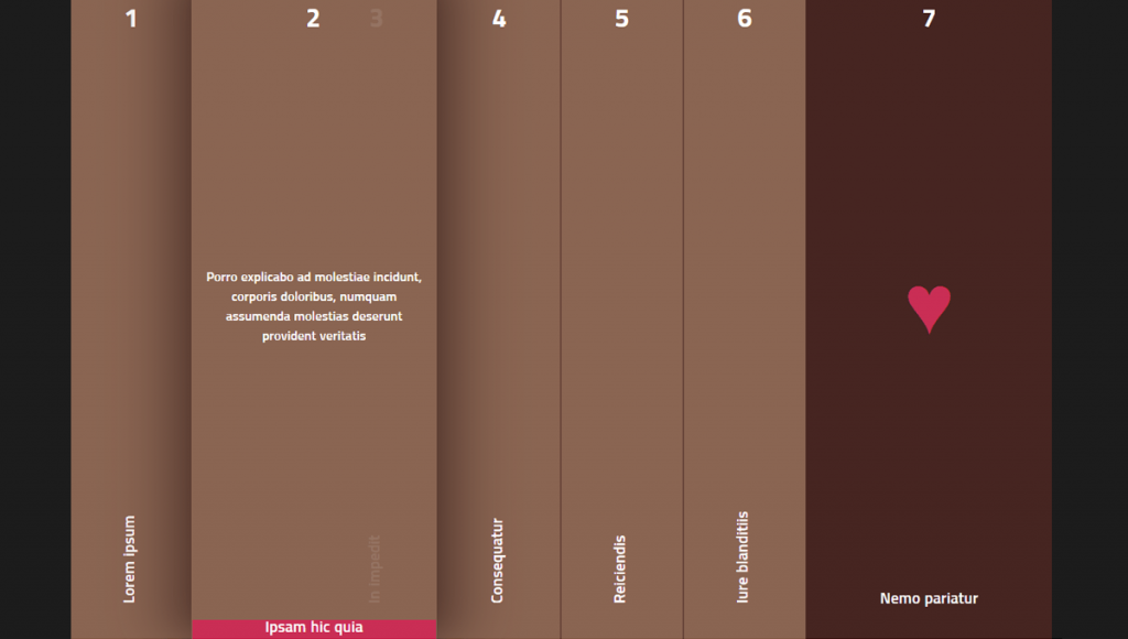 CSS3 Vertical Horizontal Accordion Tabs and Sliders