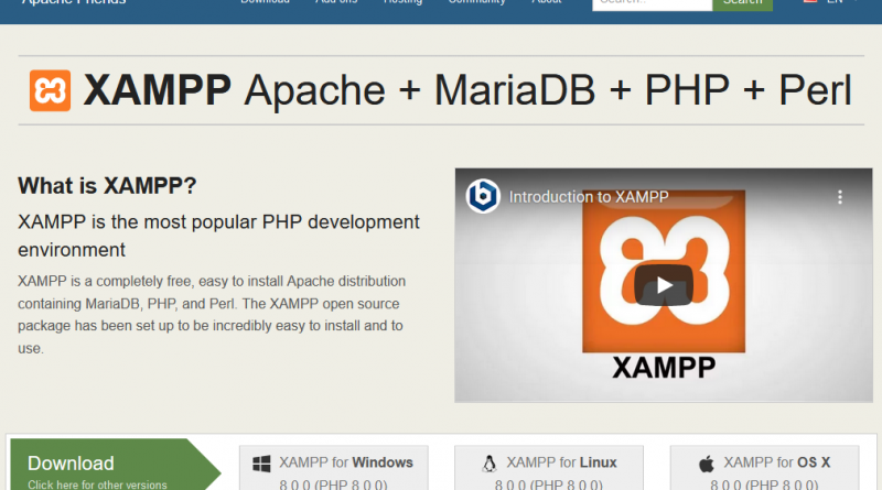 Pusat Download Area - Install XAMPP on Windows