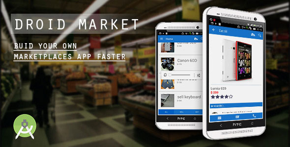 DroidMarket - marketplaces app with CMS