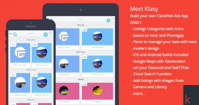 Klasy Classified Ads Mobile App