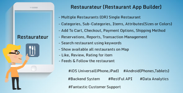 Restaurateur - Solution For Any Restaurants App