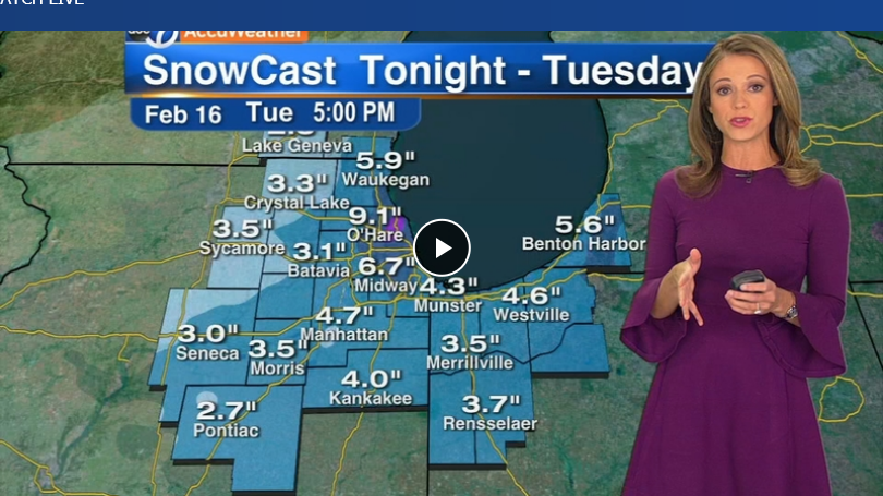 Chicago Weather Up 14 inches of snow expected into Tuesday