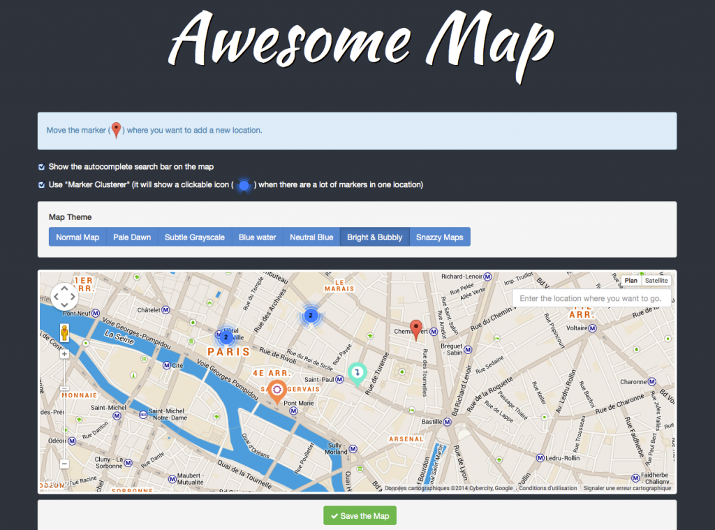 Awesome Map Customizable Map Markers