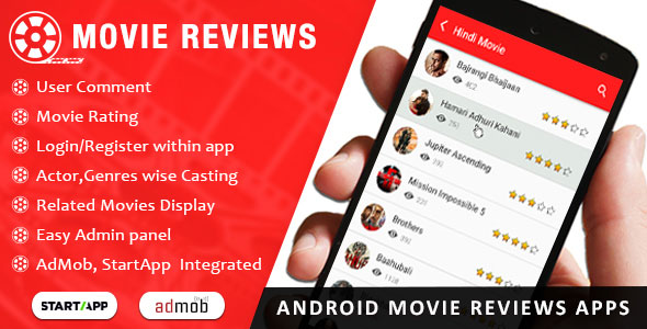 Android Movie Review App Admob
